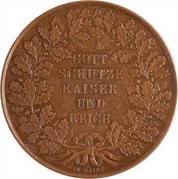 Second Empire, double thaler ou module de 2 thalers, hommage de Ferdinand Korn, c.1860 Francfort-sur-le-Main