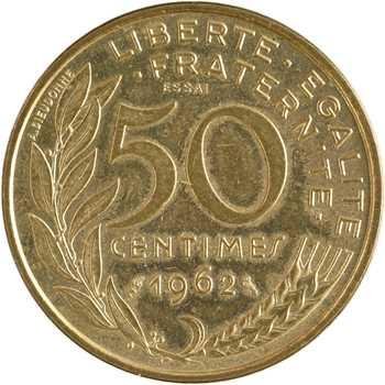Ve République, essai de 50 centimes Lagriffoul, 1962 Paris