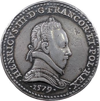 Henri III, médaille par Germain Pillon, 1579 Paris