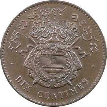 Cambodge, Norodom Ier, dix centimes, 1860 Bruxelles