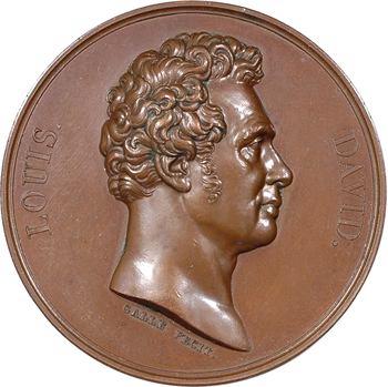 Louis XVIII, hommage à Jacques-Louis David, par Galle, 1822 Paris