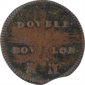 Bouillon (duché de), Godefroy-Maurice de La Tour, liard 4e type ou double de Bouillon, s.d. Sedan