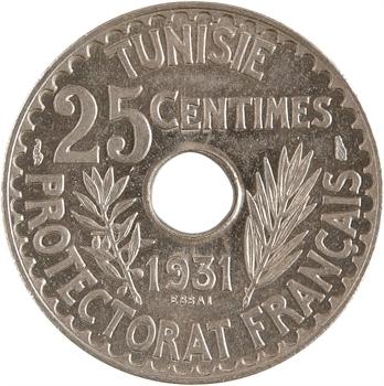 Tunisie (Protectorat français), Ahmed, essai de 25 centimes, AH 1350 – 1931 Paris