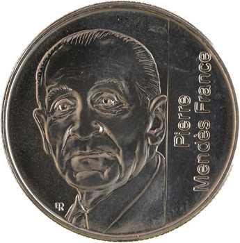 Ve République, essai de 5 francs Mendès France, 1992 Pessac