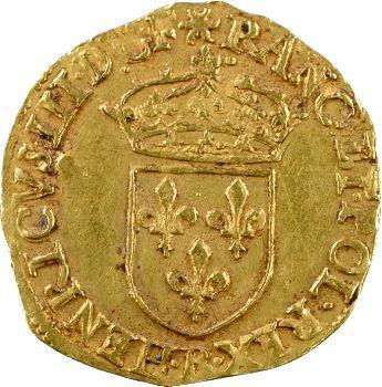 Henri III, écu d'or au soleil 3e type, 1578 Rouen