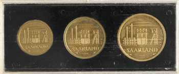 Allemagne, Sarre, coffret des 3 essais, 10, 20 et 50 francs, 1954 Paris