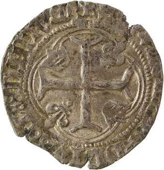 Louis XI, blanc à la couronne, 1re émission, Lyon