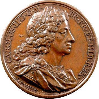 Angleterre, série des Rois par Jean Dassier, Charles II, s.d. (c.1731-1732)