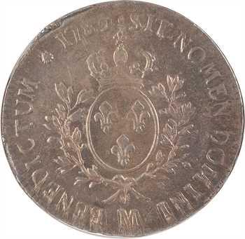 Louis XVI, écu aux rameaux d'olivier, 1785 Toulouse, NGC MS65