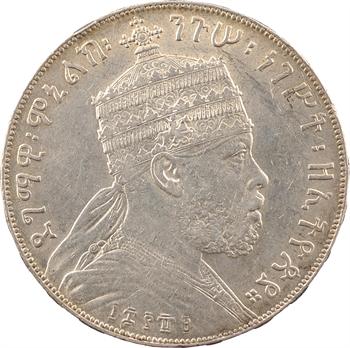 Éthiopie (Empire d'), Ménélik II, birr, EE 1889 (1896) Paris