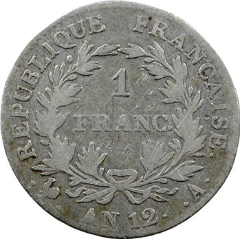 Premier Empire, 1 franc calendrier révolutionnaire, An 12 Paris