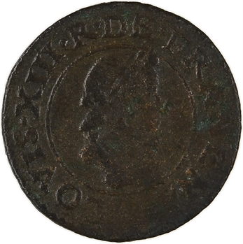 Louis XIII, denier tournois 1er type, 161[2 ?] Bordeaux