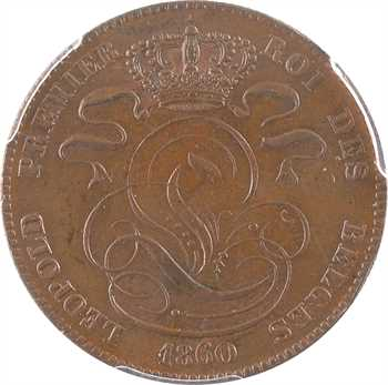 Belgique (royaume de), Léopold Ier, 5 centimes, 1860 Bruxelles, PCGS MS63BN
