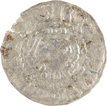 Lothaire de France et Herbert III, denier au type de Lothaire, s.d. (après 984) Troyes ?