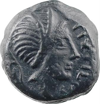 Carnutes, bronze PIXTILOS au griffon courant, classe VI, frappe incuse, c.40-30 av. J.-C.