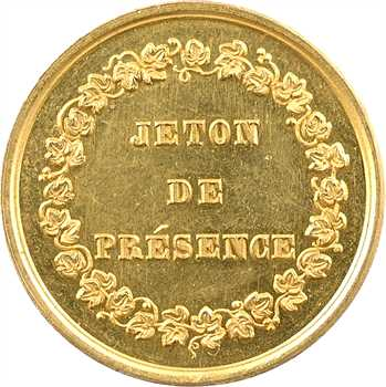 Louis-Philippe Ier, jeton de présence en or, Passage Jouffroy, 1844 Paris