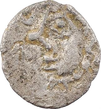 Incertaine de la Gaule celtique, denier au profil luniforme, Ier s. av. J.-C