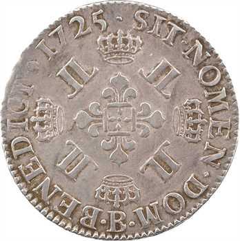 Louis XV, demi-écu aux huit L, 1725 Rouen