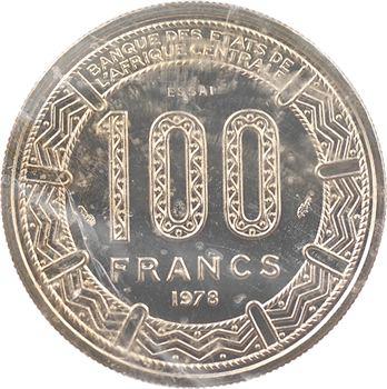 Empire centrafricain, Jean-Bedel Bokassa, essai de 100 francs, 1978 Paris