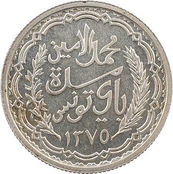 Tunisie (Protectorat français), Mohamed Lamine, 10 francs, 1955 Paris