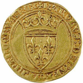 Charles VI, écu d'or à la couronne 1re émission