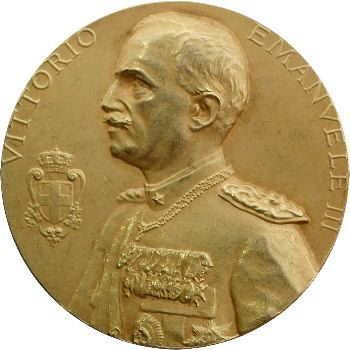Italie, Victor-Emmanuel III, médaille or