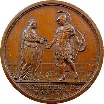 Directoire, reddition de Mantoue, par Lavy, 2 février 1797 Milan