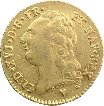 Louis XVI, louis d'or à la tête nue, 1786 Strasbourg