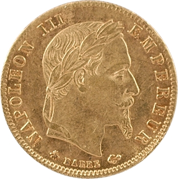 Second Empire, 5 francs tête laurée, 1866 Paris