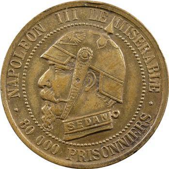 Guerre de 1870, Napoléon III le misérable, module cinq centimes SEDAN, 1870