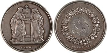 IIIe République, médaille-boîte de mariage, par Bordes, s.d