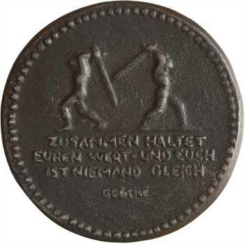 Allemagne/Ire Guerre mondiale, invocation à rester unis, par August Gaul, 1915