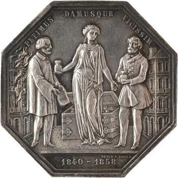 Second Empire, la société d'assurance La Clémentine à Rouen, par Hamel, 1858 Paris