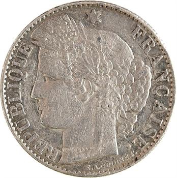 IIIe République, épreuve de 50 centimes Cérès, date incomplète, en argent, 18– Paris