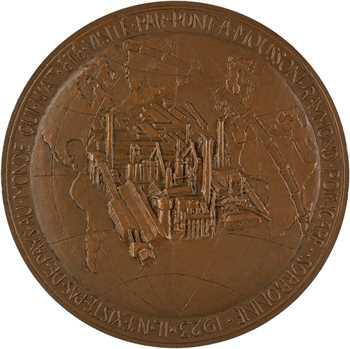 IVe République, centenaire de la fondation de Pont-à-Mousson (Meurthe-et-Moselle), par Dropsy, 1856-1956 Paris
