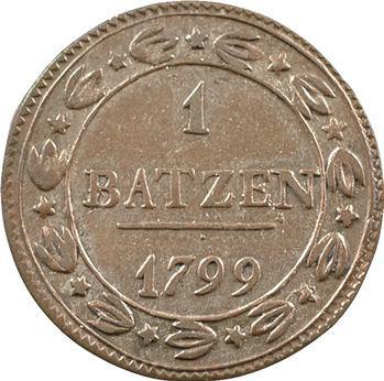 Suisse, République helvétique, 1 batzen, 1799 Berne