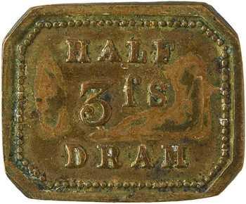 Royaume-Uni, poids d'apothicaire de 1/2 dram, W. & T[homas] A[very], c.1850
