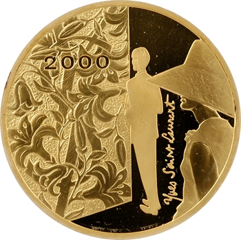 Ve République, 500 francs Yves Saint Laurent Or, Belle Épreuve, 2000 Pessac