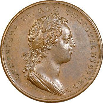 Louis XV, conquête du Milanais, par Duvivier, 1733 Paris