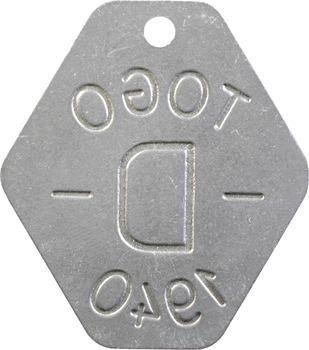 Togo, plaque de taxe, D, 1940