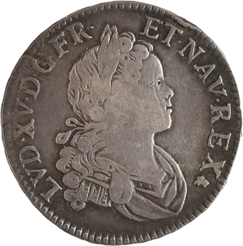 Louis XV, demi-écu de Navarre, 1718 Lyon