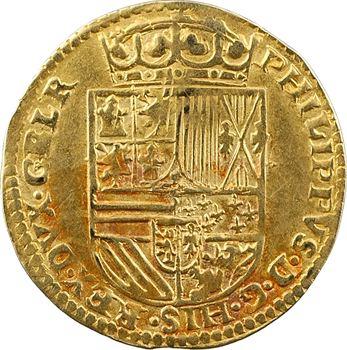 Pays-Bas Espagnols, Gueldre (duché de), Philippe II, demi réal, s.d. (1560-1562) Nimègue