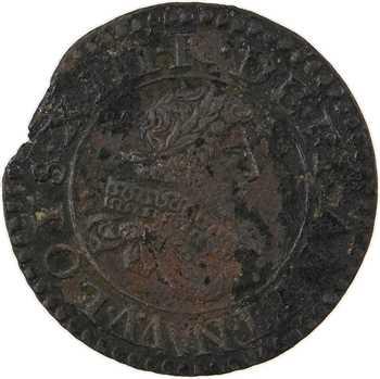 Louis XIII, denier tournois 5e type, 1630/29 Paris