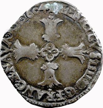 Henri IV, quart d'écu, croix feuillue de face, 1604 Bayonne