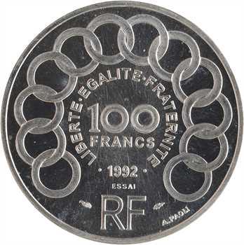 Ve République, essai de 100 francs Jean Monnet, 1992 Pessac