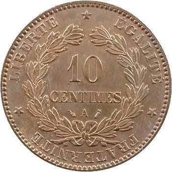 IIIe République, 10 centimes Cérès, 1889 Paris