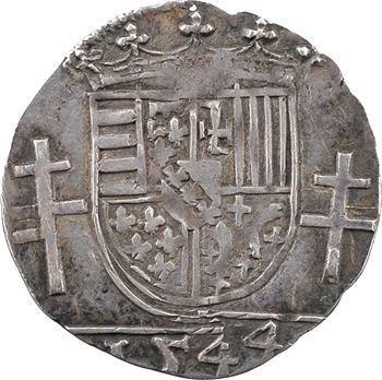 Lorraine (duché de), Antoine, quart de teston, 1544 Nancy