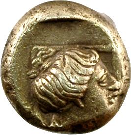Lesbos, Mytilène, hecté en électrum, c.377-326 av. J.-C.