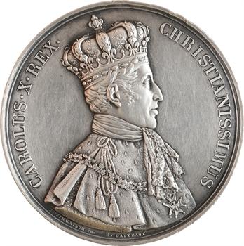 Charles X, sacre à Reims le 29 mai 1825, par Gatteaux et Depaulis, argent, 1825 Paris