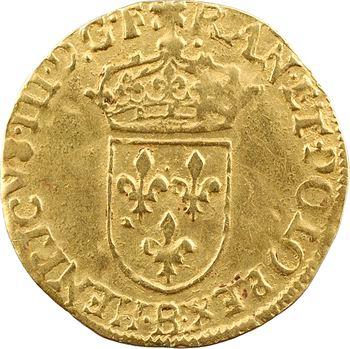 Henri III, écu d'or au soleil 3e type, 1583 Rouen